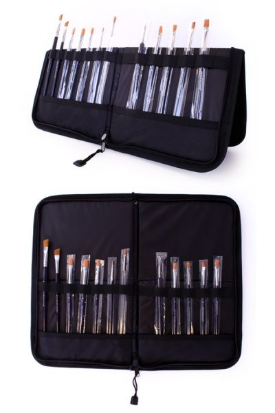 Face Paint Brush case with 15 schmink brushes