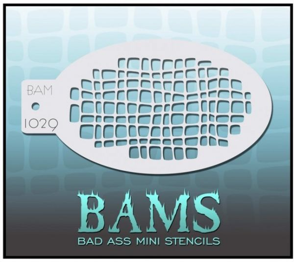 Bad Ass BAM stencil 1029