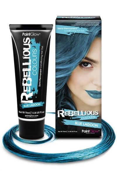 Hair dye semi permanent Blue Lagoon