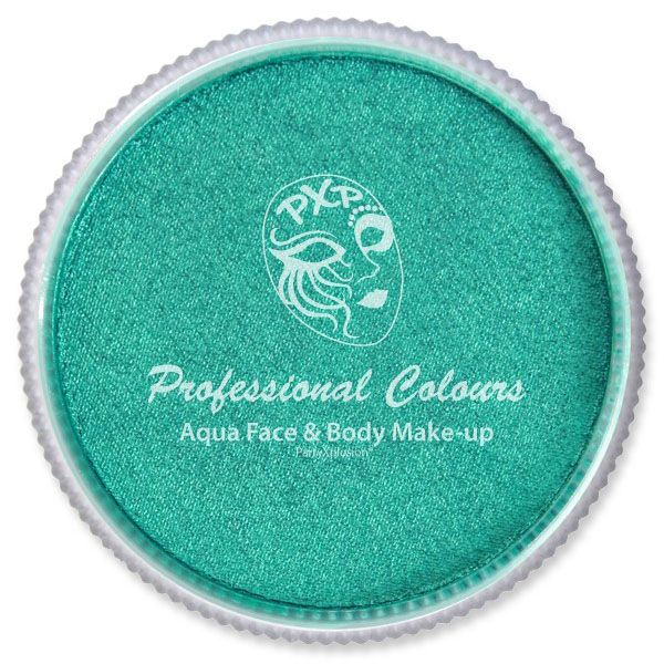 PXP Aqua metallic green face paint PartyXplosion