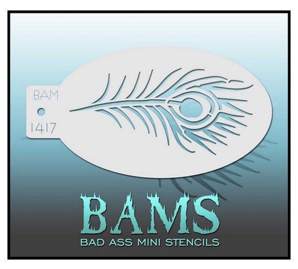 Bad Ass BAM face paint stencil 1417