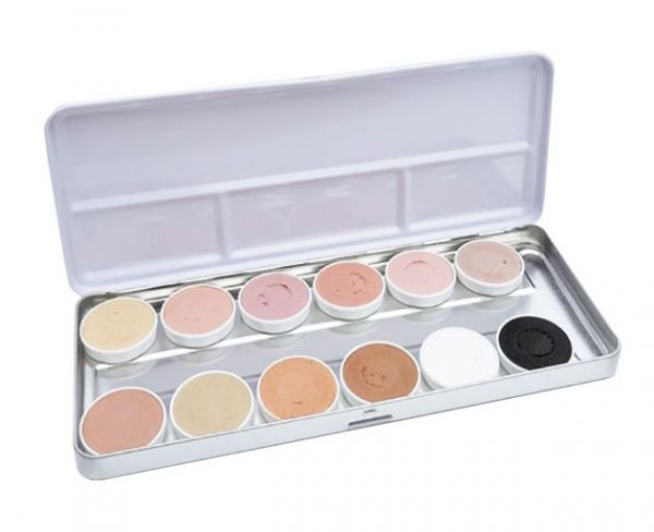 Superstar face paint palette 12 colours Aqua skintone