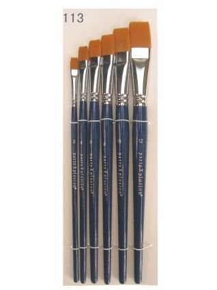 Brush Set for one stroke face paint 6 pieces in bag