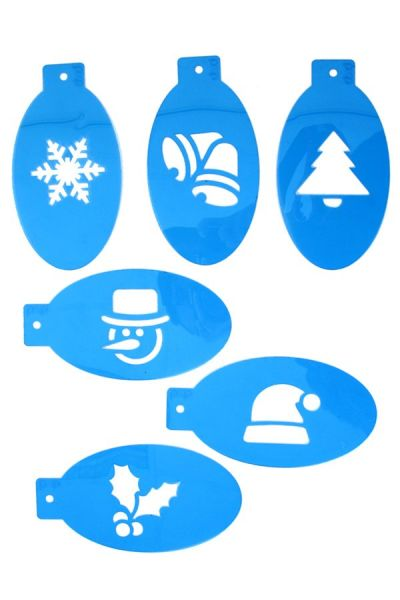 6 PXP Christmas facepaint templates set