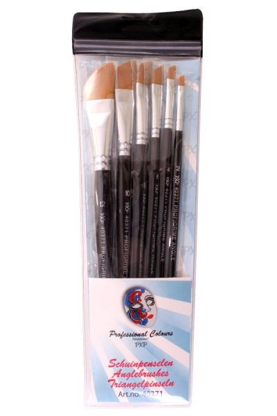 6 brushes Angle profigrime synthetic PartyXplosion