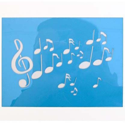 Paint template musical notes 12x16cm