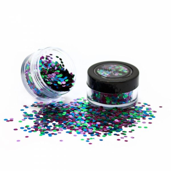 PaintGlow biodegradable cosmetic glitter mixes Wild Parrot
