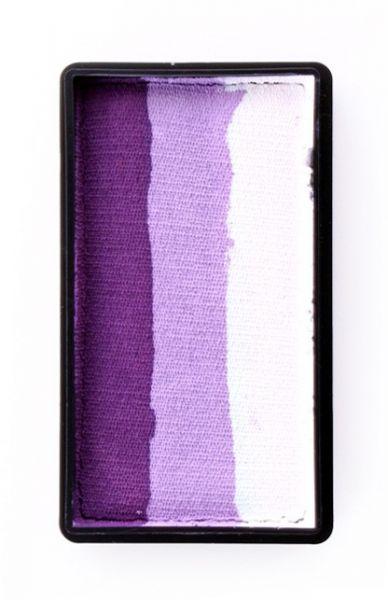 PXP One Stroke split cake Deep purple lilac white