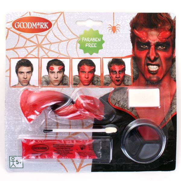 GoodMark Face Paint set with devil nose for Halloween
