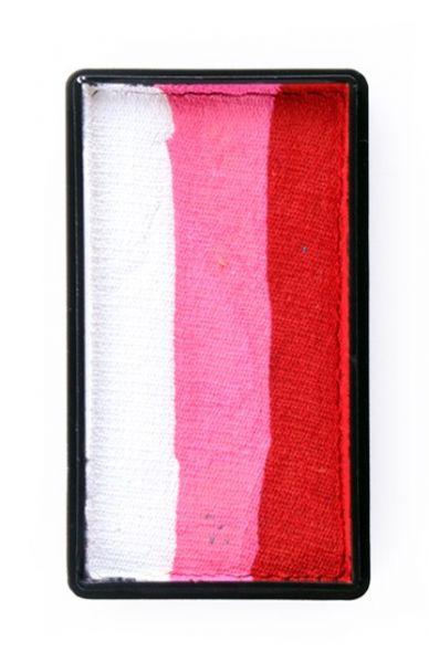 PXP One Stroke split cake red pink white PartyXplosion