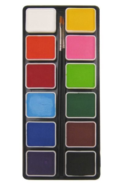 PartyXplosion face paint pallet of basic PXP colours