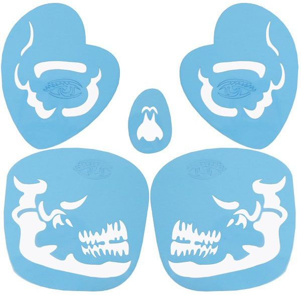 PXP Face Paint Stencils Tribal Skull