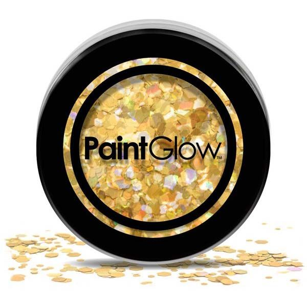 PaintGlow Chunky cosmetic glitters Gold Digger