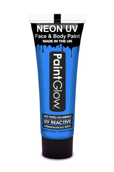 PaintGlow Face and bodypaint neon UV blue