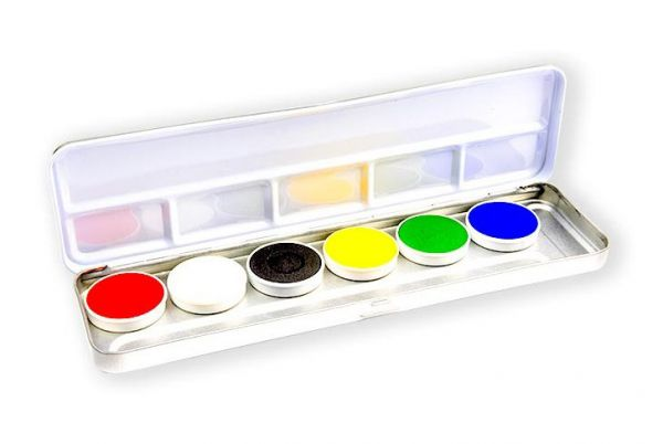 Superstar Face Paint palette 6 colours
