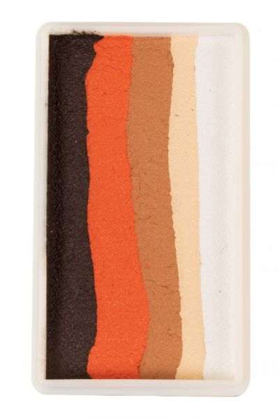 PXP split cake Ebony orange light brown light beige white