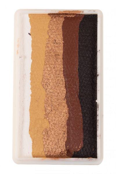 PXP split cake White gold copper brown black