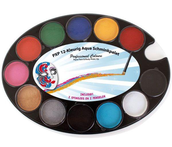 PartyXplosion 12-coloured face paint Palette PXP