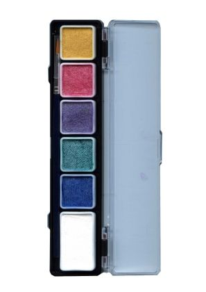 Face Paint Pallet 6 metallic colors PartyXplosion