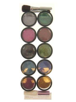 Glitter Powder 10 colours with glue brush and bristle