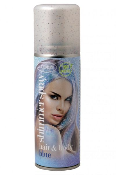 Hair and body spray glitter blue