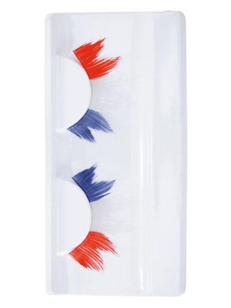 Eyelashes pointed red white blue